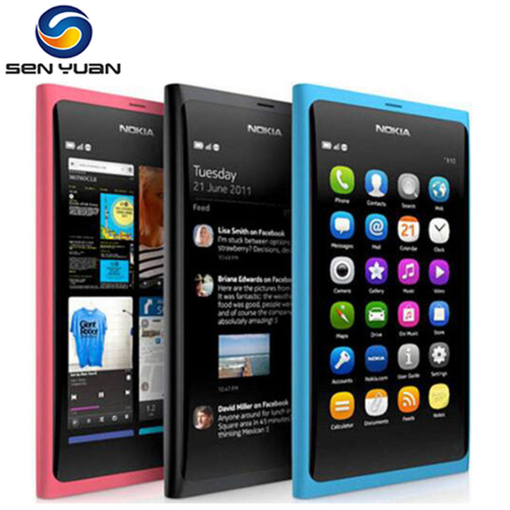 Nokia N9 Original N9-00 16GB GSM 8mp Refurbished N9-Phone Unlocked 8-Mp-Camera 3G 1G