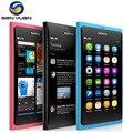 Original nokia n9 n9-00 gps wifi 3g gsm 8 mp câmera 16 gb rom 1 gb ram desbloqueado telefone n9