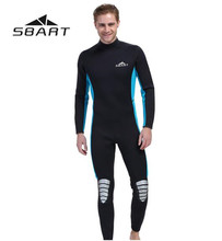 цены SBART Neoprene 3MM Wetsuits Men & Women Surfing Scuba Diving Suit Spearfishing Swimming Wetsuits Full Body Swimsuit