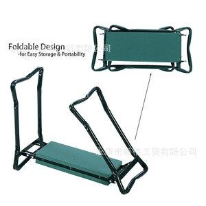 Image 4 - A, pelador de jardín con asas taburete de jardín plegable de acero inoxidable con almohadilla de frotamiento EVA suministros de regalos de jardinería