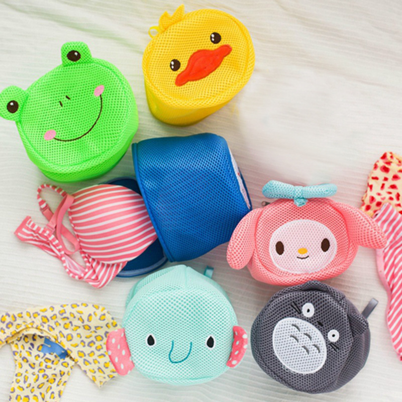 1PC Cartoon Bra Underwear Laundry Wash Bag Foldable Baskets Zippered Mesh Bag Household Cleaning Tools Accessories Laundry Bag B