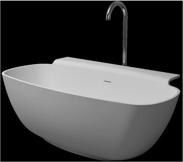 1580x820x600mm Solid Surface Stone CUPC Approval Bathtub Rectangular ...