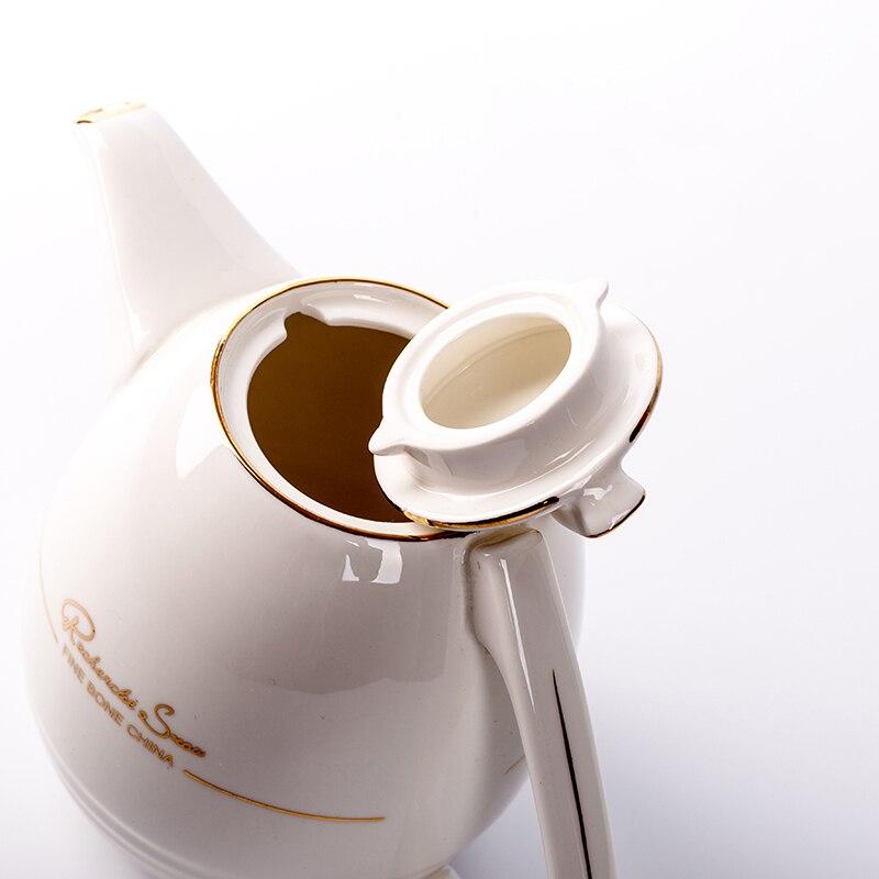 1100 мл Европейский стиль кофейник термостойкий керамический фарфор фильтр Чайная посуда/послеобеденный чай Молочный чайник - 5