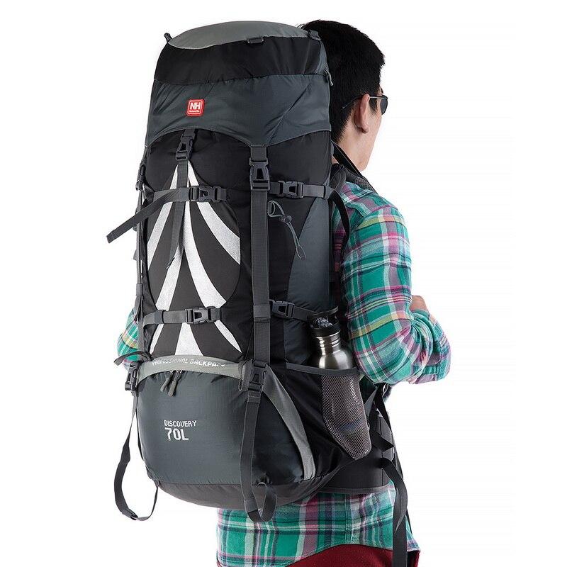 Naturehike outdoor backpack mountaineering bag menandwomen shoulder bag large capacity 70L sports bag leisure travel bag on foot