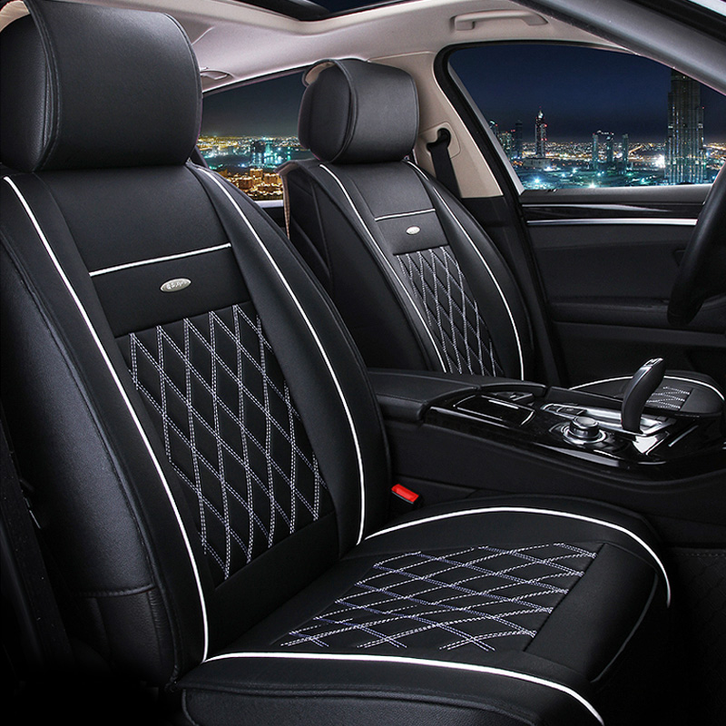 Vtear Universal Leather Car Seat Covers for toyota RAV4 C HR 2013
