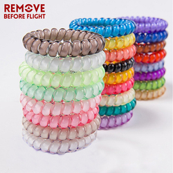 5 PCS Fashion Candy Color Bracelet Holder Telephone Wire Chains Jewelry Elastic Hairband Cable Sauna Beach Wristbands
