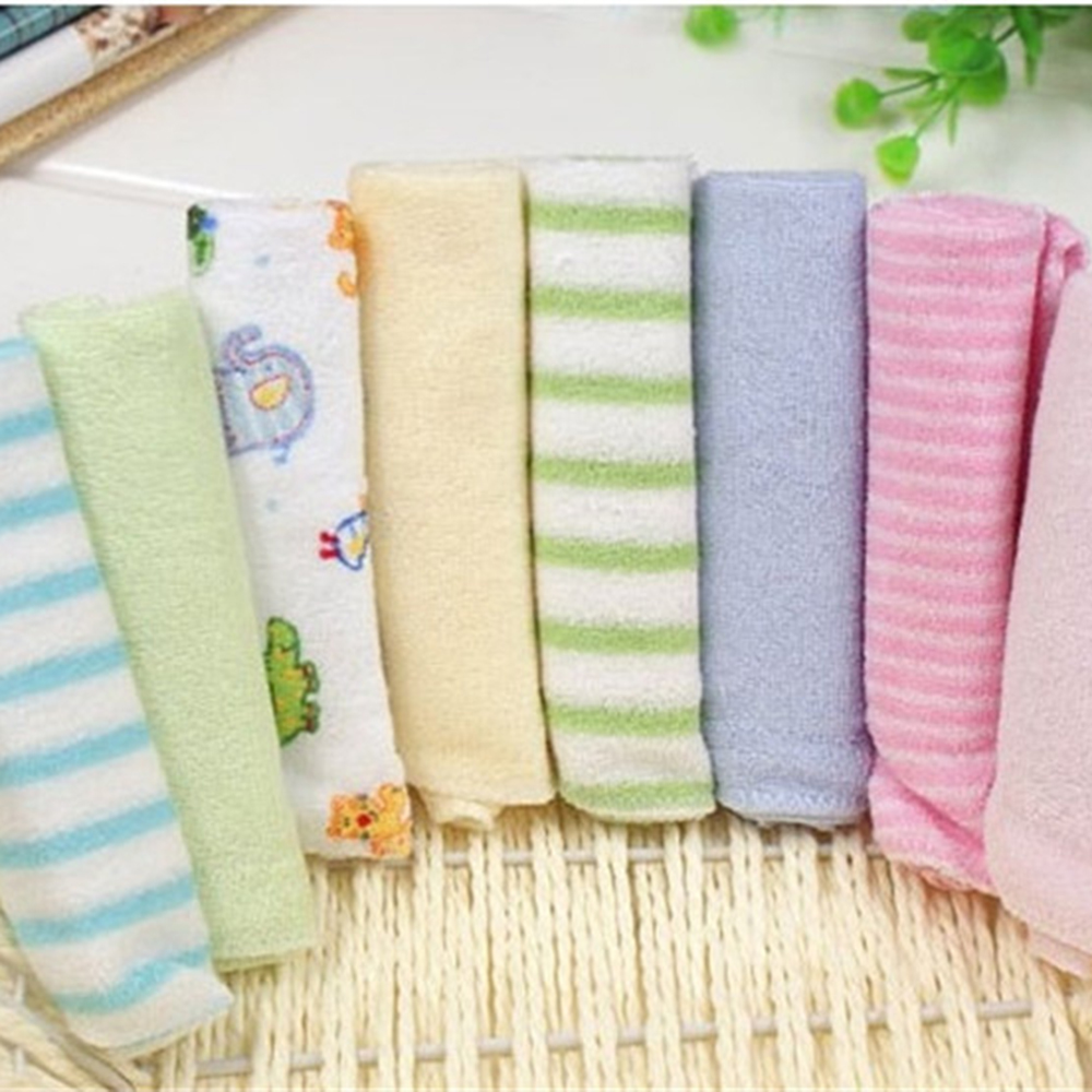 Bad Set For Baby 8pcs Set Baby Small Square Towels Easy Washable And Dryable Baby Feeding Napkins Newborn Child Handkerchief Face Washing