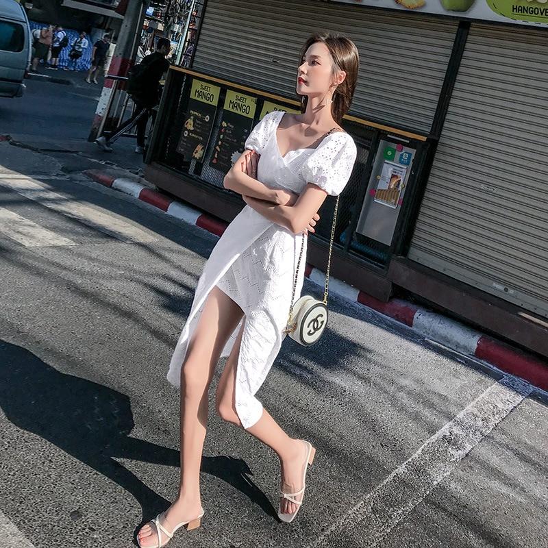 2019 European Princess Mini Dress Women Polka Dot Ruffle Sleeve Vintage Short free shipping