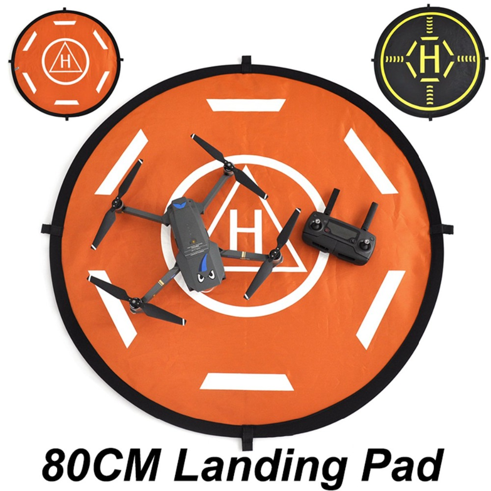 80CM Folding Landing Pad For Spark DJI Mavic Pro 2 Zoom  Mavic Air Phantom 3 4 Yuneec Q500 Drone Parts Parking Zone Tarmac Black