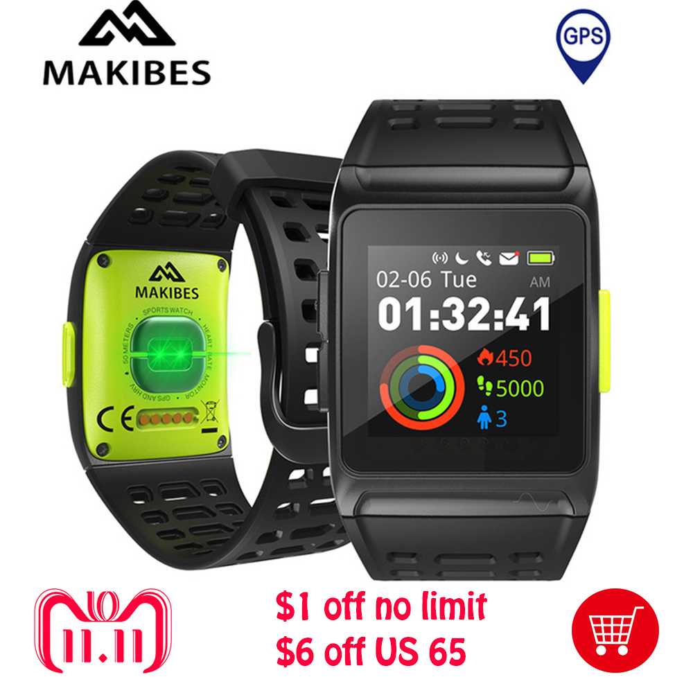 Makibes BR1 GPS SPORTS Watch Smart Watch Water Resistant Color Screen Multisport Wristwatch Men Women Fitness Bluetooth Watch цена и фото
