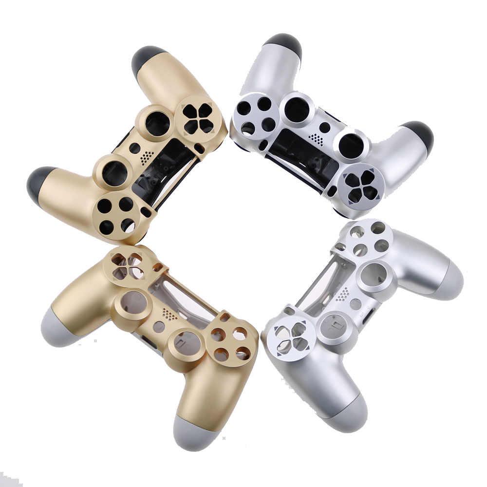 JDS-011 001 beyaz ve siyah mat konut kabuk için Sony PS4 Playstation 4 kablosuz denetleyici değiştirme