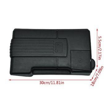 Silnik samochodowy bateria osłona pyłoszczelna elektroda ujemna wodoodporny ochronny obudowa do VW Tiguan L tanie i dobre opinie NoEnName_Null 18cm Battery dust cover 5 5cm 30cm Plastic 0 4kg Black Engine Battery Cover