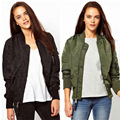 2017 New Spring Simple And Stylish Zipper Coat Outwear Solid Color Long-Sleeved Short Bomber Jacket Women Basic Coats TM17021802