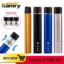 الأصلي Kamry X Pod Kit السجائر الإلكترونية الإلكترونية مع بطارية 280 مللي أمبير/ساعة 0.8 مللي خرطوشة المتاح Vape vaporizador vaper