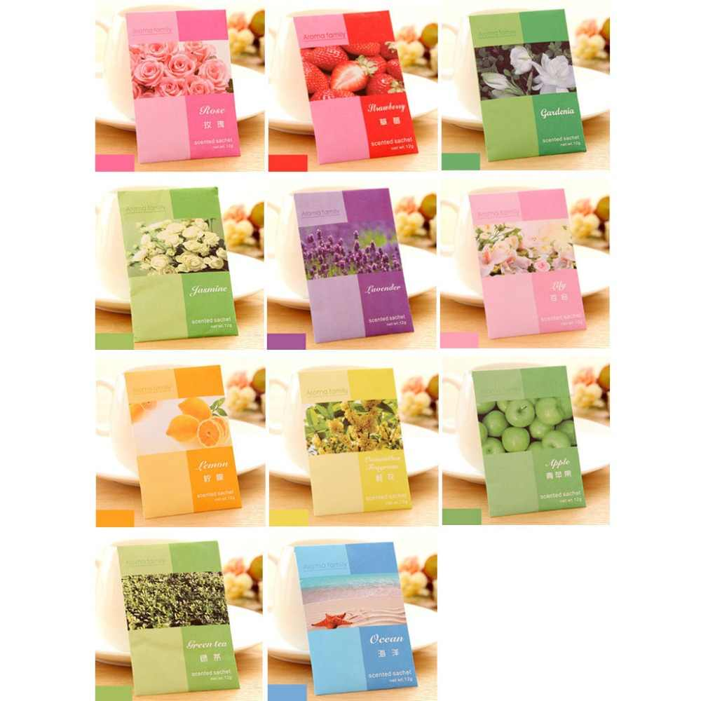 3 bags Mini Natural Perfume Air Freshener Vanilla Sachets Paper Fragrance Bag Scented