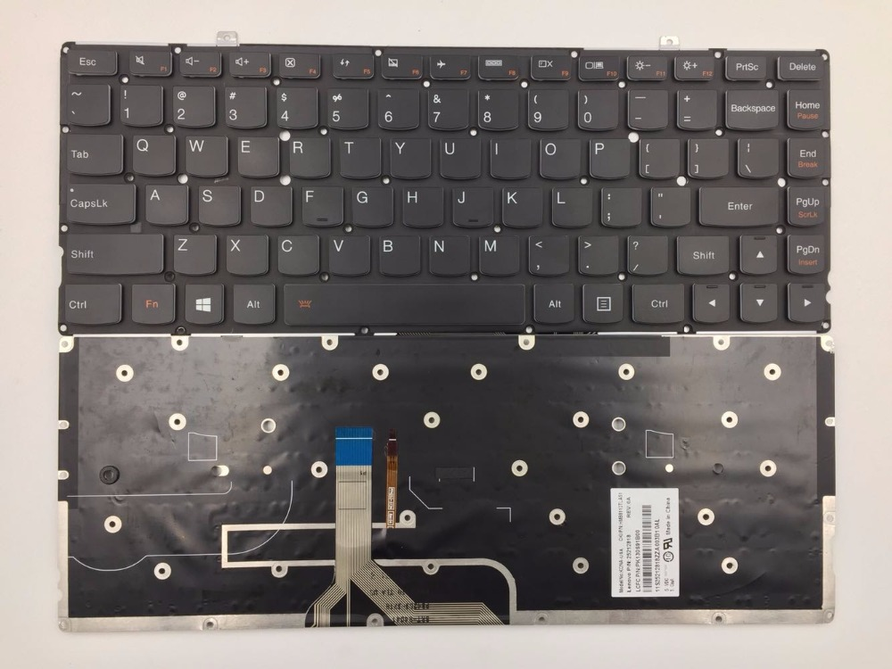 New US Keyboard for Lenovo Yoga 2 Pro 13 Backlit Yoga2 Pro13 US English Laptop Black new us laptop keyboard with backlit for lenovo yoga 14 thinkpad s3 series p n 00wh763 47m004d sn20f98414 cb 84us mp 14a83usj442