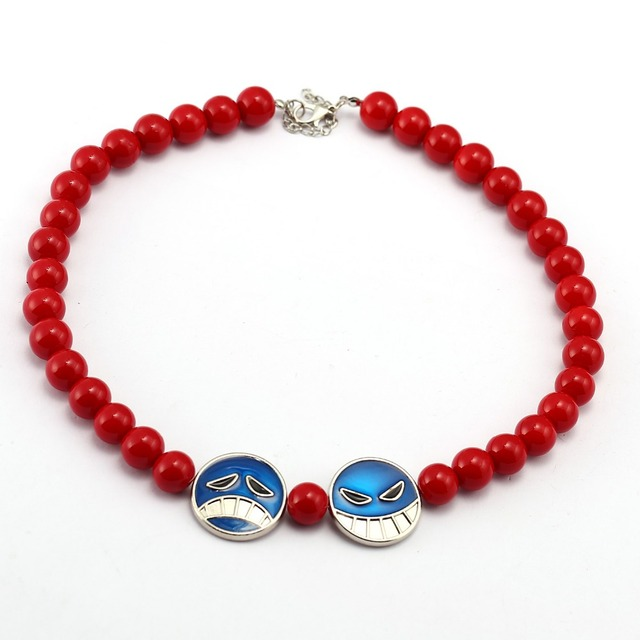 One Piece Red Beads Necklace