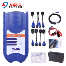 NEXIQ USB Link with plastic case and NEXIQ 125032 USB Link Software Diesel Truck Diagnostic TOOL with plastic All Adapters