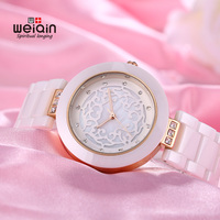 WEIQIN Brand High Quality Full Ceramic Women Watches Elegant Relojes Mujer 2017 Fashion Watch Women 3ATM Waterproof Montre Femme