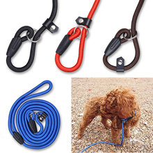 Pet Nylon Dog leash Training Rope Lead Collar Adjustable Leash Strap Traction Harness Large