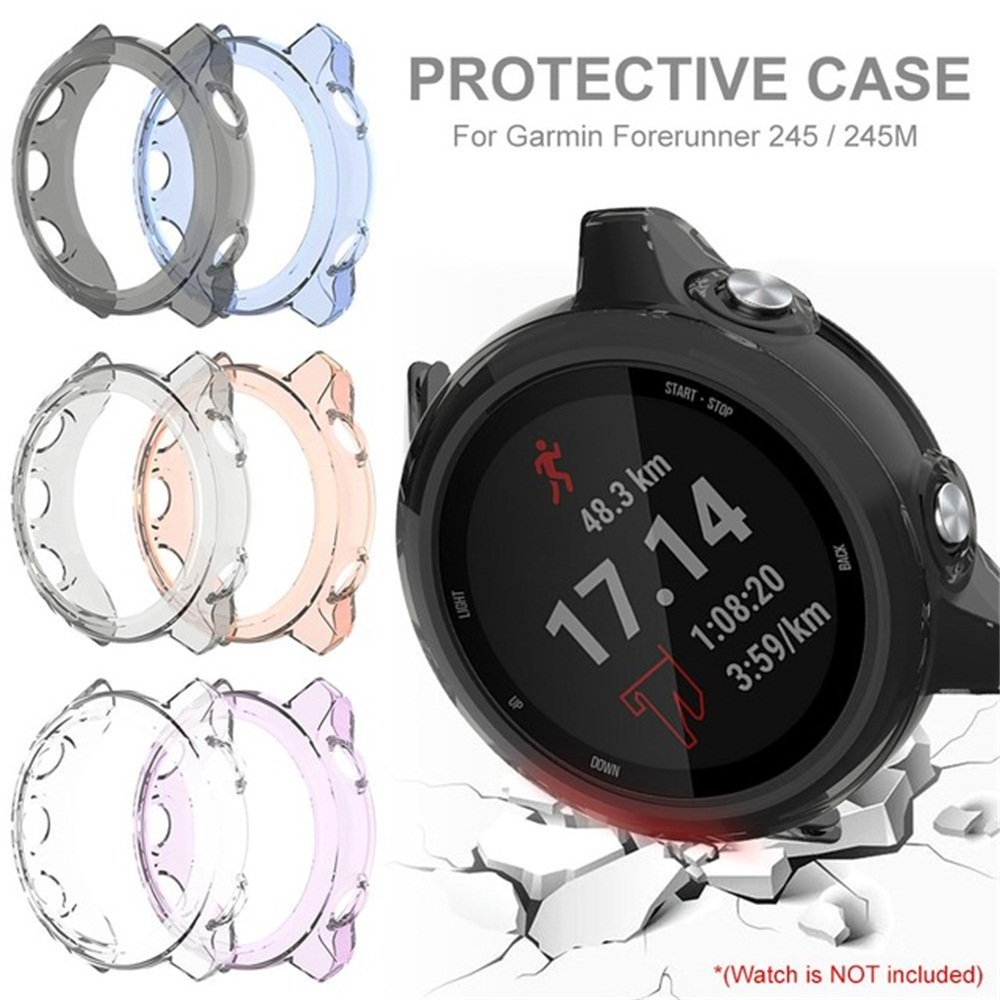 New Fashion Soft TPU Watch Case Bracelet Protective Watch Cover Hard Shockproof Screen Protector For Garmin Forerunner 245M/245