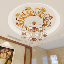 Condole top flower Home decor adhesive acrylic mirror 3D wall sticker mirror decor цены
