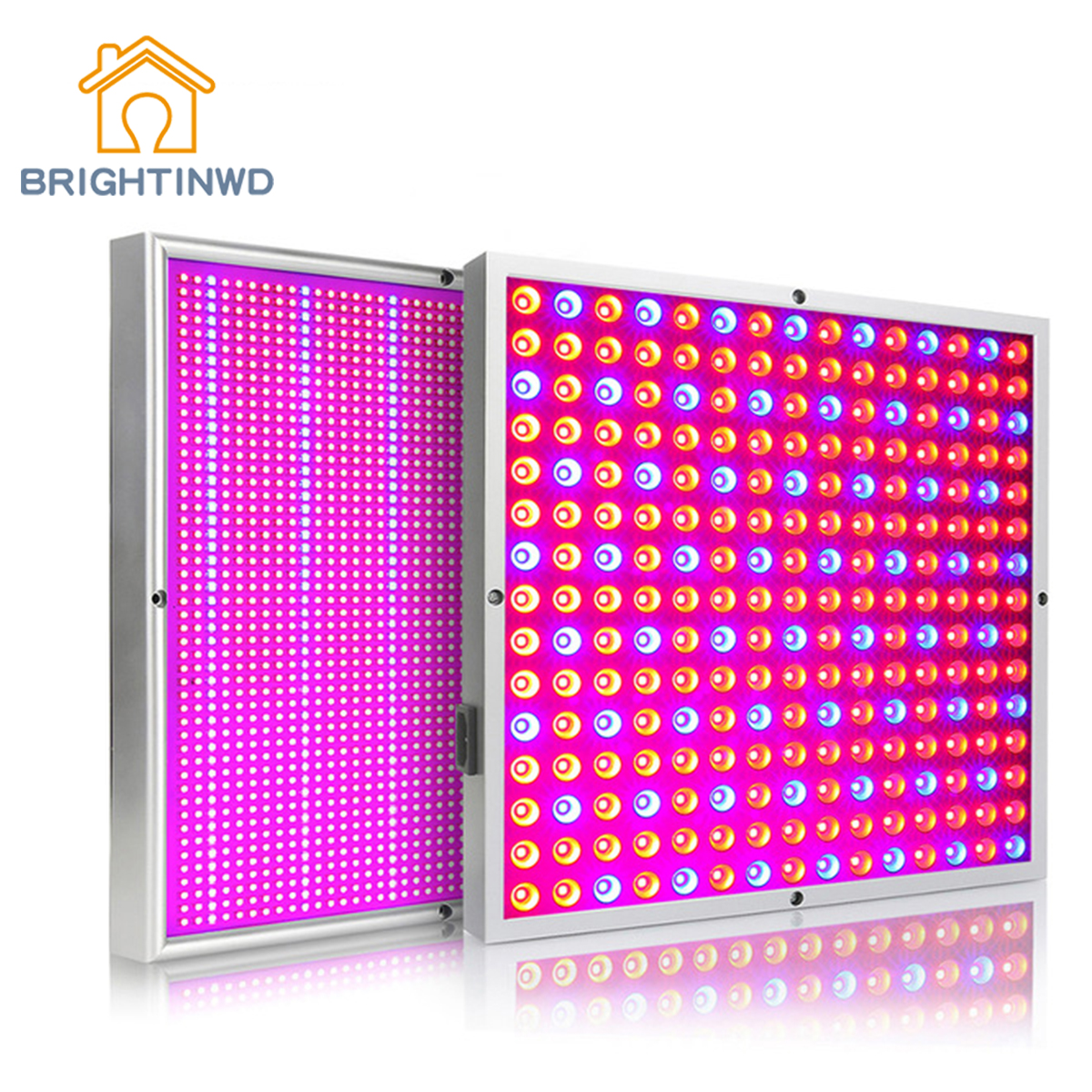 BRIGHTINWD Full Spectrum Plant Growth Lamp 45W/200W Fill Light ABS Indoor Growth Lamp Red And Blue Lamp Beads Square Growth Pane