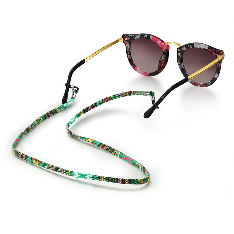 Ethnic Style Handmade Woven Eyeglasses Chain 5mm Width Glasses Rope Sunglasses Strap Cord Neck Band