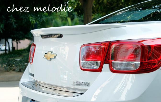 Glossy black/white/red painted ABS Car Rear Trunk Spoiler Wing For Chevrolet Malibu 2012-2018, no drilling needed car styling rear wing trunk spoiler decorative cover for europe toyota camry 2012 2013 2014 2015 abs auto accessories