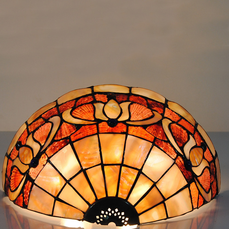 Tiffany Style Lily Flowers Pattern Wall Sconces E27 Tiffanylamp Retro Stained Glass Fixtures Corridor Balcony Wall Lights WL330