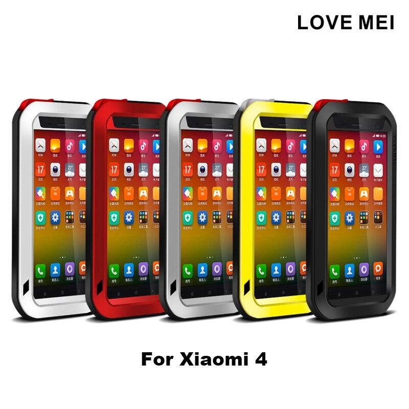 imágenes para Para Xiaomi 3 4 5 Caso Mi3 Mi4 M3 M4 M5 Mi5 caso original Cubierta Blindada A Prueba de agua a prueba de golpes Caso duro Fundas de Vivienda caso de shell
