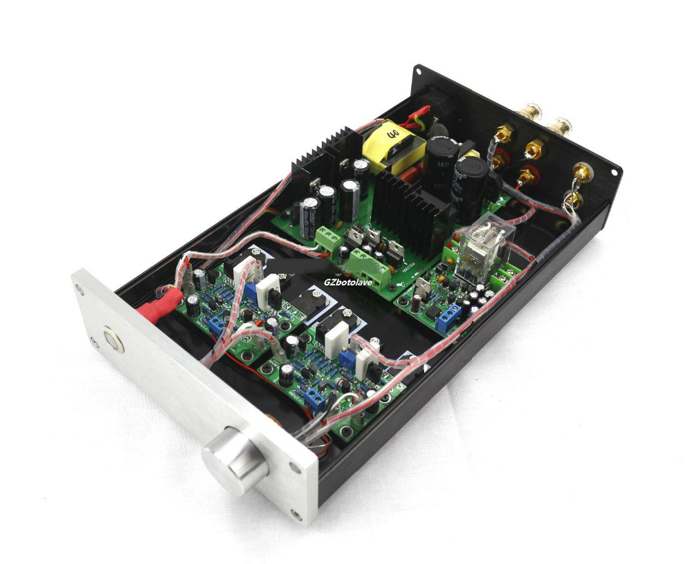 GZLOZONE NEW arrive Finished HIFI NAP250 MOD Stereo Power Amplifier 80W*2 top sell gzlozone finished classic hd 8 a1 pro headphone amplifier