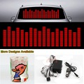Red Music Rhythm Strips Flash Light Sound Activated Equalizer Car Sticker 90cm*25cm 35.4in*9.84in