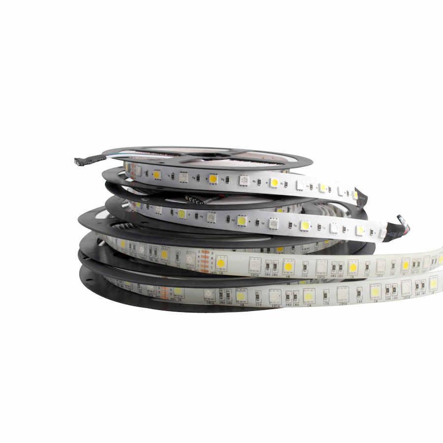 12 V 24 V LED شرائط مصباح SMD 5050 RGB RGBW RGBWW للماء 60Led/s 5 M 12 24 V فولت LED قطاع أضواء مصباح الشريط إضاءة خلفية للتلفاز