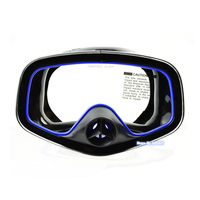 Layatone Diving Mask Silicone Surfing Snorkeling Mask Tempered Glass Lens Adults Underwater Fishing Swimming Mask M 246