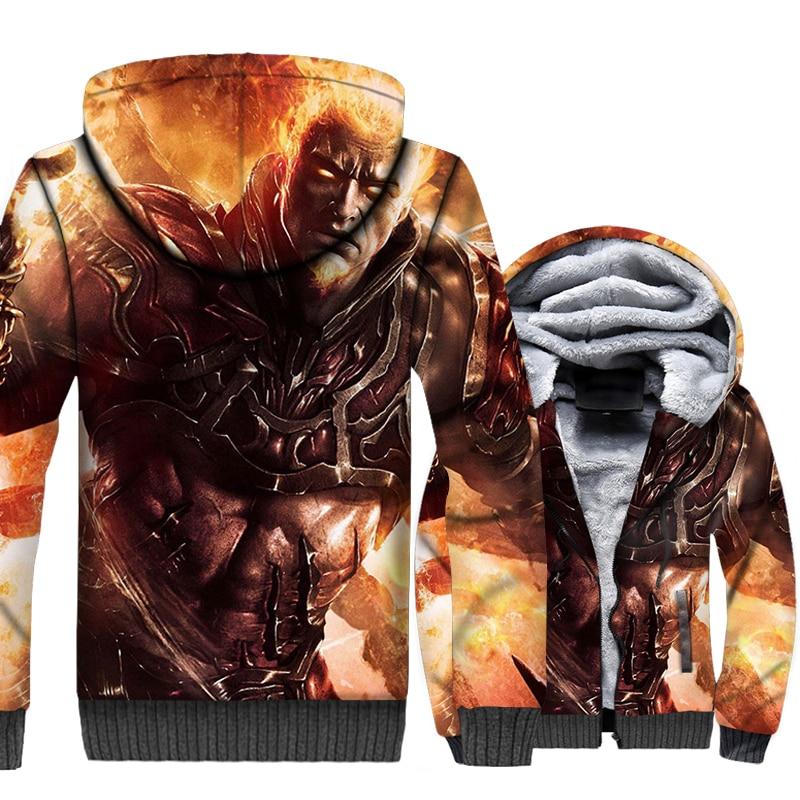 Plus size thicken Hoodies Men 39 s sweatshirt winter jacket 2019 new 3D game printing hip hop Casual coats men hooded tracksuits in Hoodies amp Sweatshirts from Men 39 s Clothing
