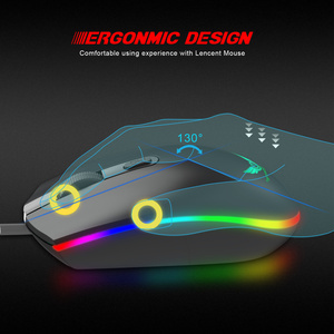 Image 5 - ZERODATE New RGB Wired Mouse 1600DPI Office Gaming Mouse Support PC Laptop Computer Accessories