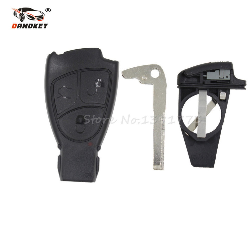 DANDKEY 3 BUTTONS SMART REMOTE KEY CASE SHELL FOR MERCEDES