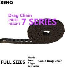 Бесплатная доставка цепи передачи 7×7/7×15/10×10/10×15/10×20/10×30/10×40 пластик буксировочная нейлоновый кабель перетащите цепная проволока Перевозчик
