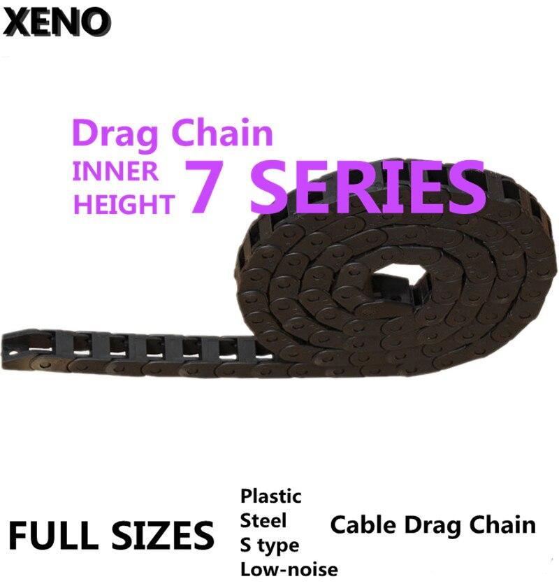 Livraison gratuite chaîne de Transmission 7x7/15 10x10/15/20/30/40 câble de remorquage en plastique câble porte-fil avec connecteur d'extrémité