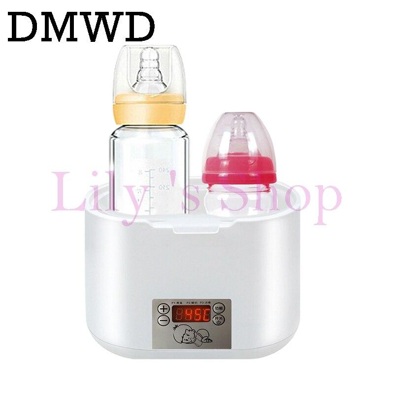 цена на Warm milk heater electric thermostat hot milk bottle warmer Infant sterilizer multifunctional eggs boiler 2 bottles Newborn baby