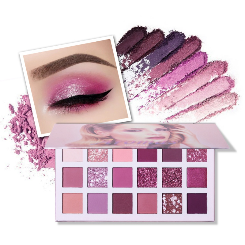2019 Waterproof Long Lasting Charming Eyeshadow 18 Color Make up Palette Matte Shimmer Pigmented Eye Shadow in Eye Shadow from Beauty Health