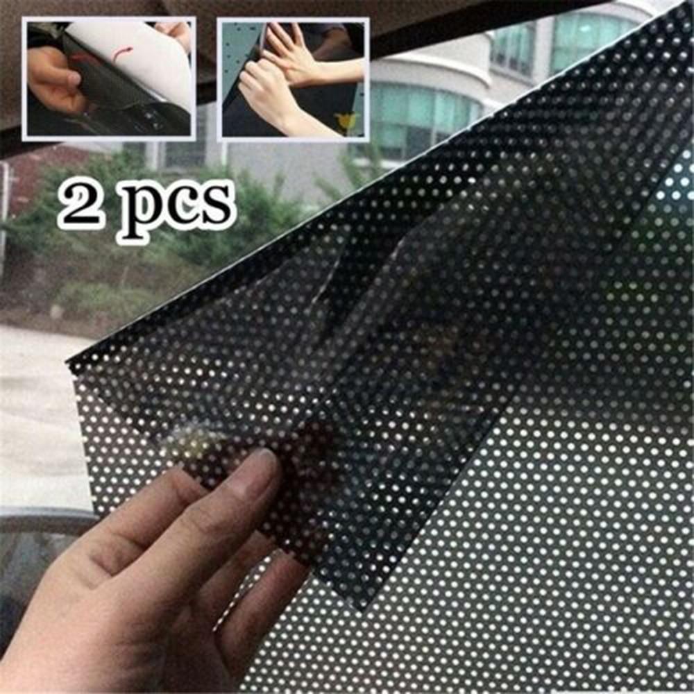 Static Sunshade Stickers Film Curtain-Insulation Glass Sun-Block Sunroof Window Car 2pcs