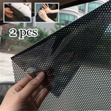 2 шт Солнцезащитная пленка анти-УФ Автомобильная статическая Солнцезащитная пленка, наклейки на окна, стекло, самоклеющаяся Солнцезащитная шторка, изоляция, автомобильный солнцезащитный козырек