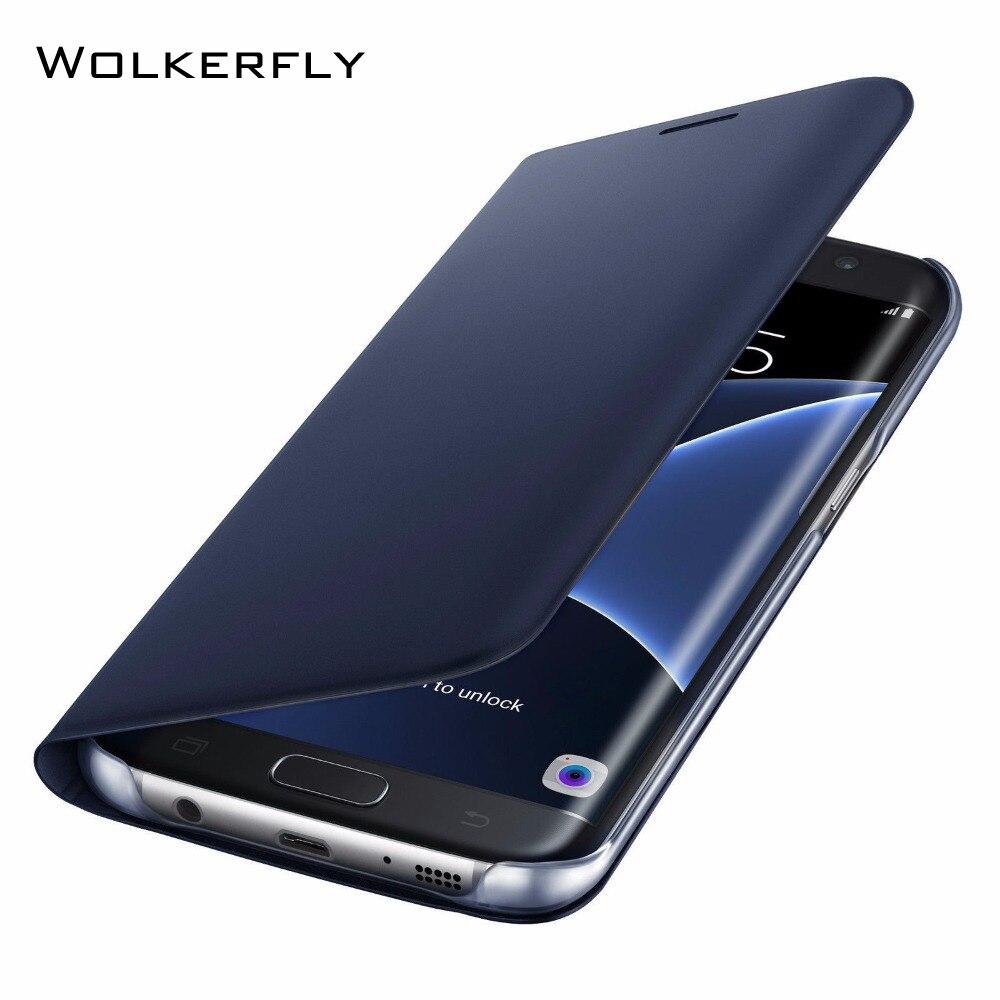 Оригинальный кожаный чехол для samsung Galaxy S10 S8 S9 плюс S10e S6 S7edge A5 A7 J5 J7 2016 2017 Note 9 8 чехол с отделением для кредитных карт A7 2018