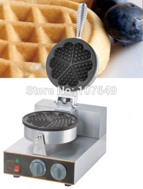 Hot Sale 110v 220V Commercial Use Electric Heart Waffle Maker Iron Machine Baker 110v 220v waffle maker iron machine baker heart shape commercial waffle maker