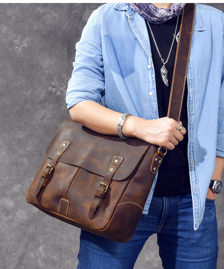 Luxury Leather Shoulder Bag crossbody style