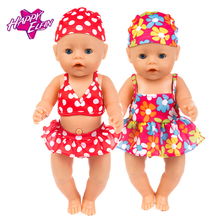 New Fashion Baby Doll Clothes Zapf Baby Born 43cm American doll clothes doll accessories swimsuit for