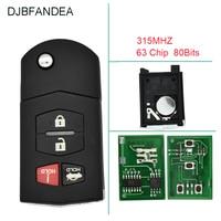 DJBFANDEA 4BT 315Mhz Remote key Fob For Mazda MX 5 Miata Mazda 3 Mazda 6 For Mazda BGBX1T478SKE125 01 Original keys ID63 chip