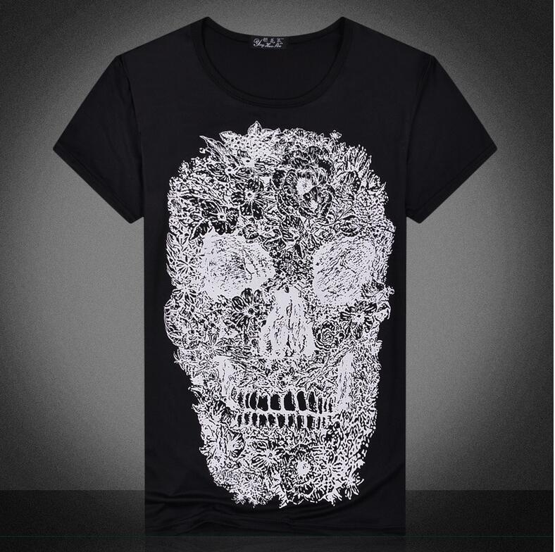 Mens T shirts moda cráneo 3D camiseta hombres hip hop hombres camiseta  casual tops Tees Marcelo Del Swag del patín de la aptitud burlon 49846ecb518